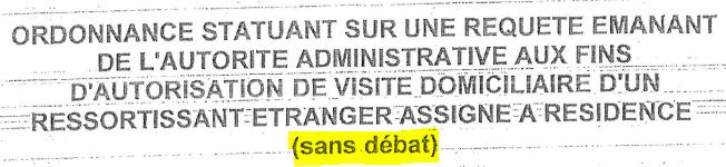 Ordonnance du JLD de Béthune en date du 23 février 2018